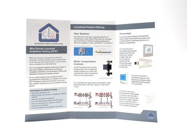 Dl 6pp leaflet printed