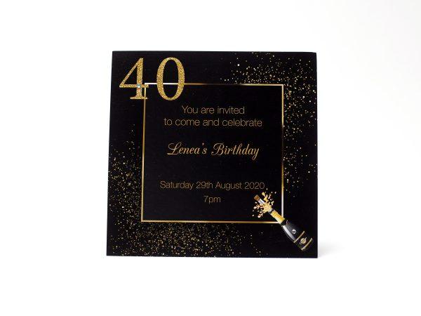 Birthday party invites printed