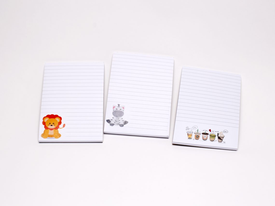 A6 note pads printed